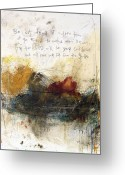 Religious Artwork Painting Greeting Cards - Proverbs Greeting Card by Michel  Keck