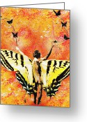 Spraypaint Greeting Cards - Providing Roots and Wings Greeting Card by Iosua Tai Taeoalii