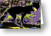 Prowling Greeting Cards - Prowling Greeting Card by David Lee Thompson