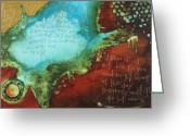 Biblical Mixed Media Greeting Cards - Psalm 139  Greeting Card by Michel  Keck