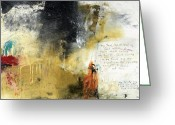Biblical Mixed Media Greeting Cards - Psalm 62  Greeting Card by Michel  Keck