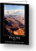 Grand Memories Greeting Cards - Psalm 90 and the Grand Canyon Greeting Card by John Haldane