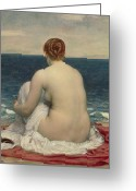 Sexuality Greeting Cards - Psamanthe Greeting Card by Frederic Leighton