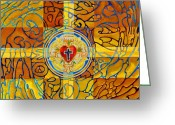 Grace Greeting Cards - Psychedelic Rose Greeting Card by Mark Jennings