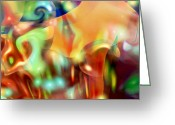 Music Inspired Art Greeting Cards - Psychedelic Xperiment Greeting Card by Linda Sannuti
