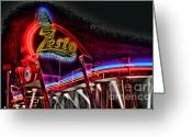 Photographers Atlanta Greeting Cards - Psychedelic Zestos Greeting Card by Corky Willis Atlanta Photography