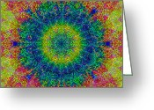 Bill Cannon Mixed Media Greeting Cards - Psychedelicize Greeting Card by Bill Cannon