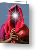 Fortune Teller Greeting Cards - Psychic, Conceptual Image Greeting Card by Smetek