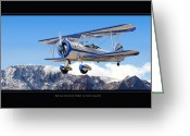 Airplanes Digital Art Greeting Cards - PT-17 Stearman Greeting Card by Larry McManus