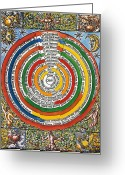 Ptolemaic Greeting Cards - Ptolemaic Universe, 1537 Greeting Card by Granger