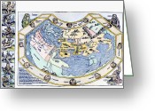 Ptolemaic Greeting Cards - Ptolemaic World Map, 1493 Greeting Card by Granger
