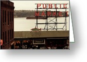 Tanker Greeting Cards - Public Market Greeting Card by Kerry Kralovic