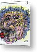 Post Mixed Media Greeting Cards - Puckered Greeting Card by Robert Wolverton Jr