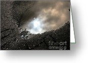 Asphalt Digital Art Greeting Cards - Puddle Art 7 Greeting Card by Dale   Ford