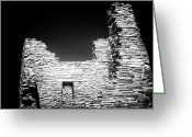 Ancient Prints Greeting Cards - Pueblo Greeting Card by John Rizzuto
