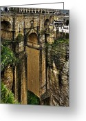 Espana Greeting Cards - Puente Nuevo - Ronda Greeting Card by Juergen Weiss
