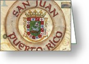 Puerto Rico Greeting Cards - Puerto Rico Coat of Arms Greeting Card by Debbie DeWitt