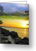 Tropical Golf Course Greeting Cards - Puerto Rico Montage 3 Greeting Card by Stephen Anderson