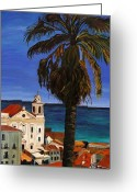 Old Painting Greeting Cards - Puerto Rico Old San Juan Greeting Card by Gregory Allen Page