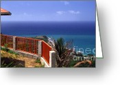 Puerto Rico Greeting Cards - Puerto Rico Panoramic Greeting Card by Thomas R Fletcher