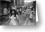 Daily Life Greeting Cards - Puerto Rico: Slum, 1942 Greeting Card by Granger