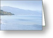 Beach Scenery Greeting Cards - Puerto Vallarta beach in Mexico Greeting Card by Elena Elisseeva