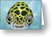 Spotted Greeting Cards - Puffy Greeting Card by Arleana Holtzmann