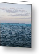 Cumulus Greeting Cards - Puffy Clouds On Horizon With Caribbean Greeting Card by James Forte