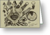 Street Art Drawings Greeting Cards - Pull Tabs Greeting Card by Robert Wolverton Jr