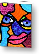 Face. Colorful Greeting Cards - Pull Yourself Together Greeting Card by Steven Scott