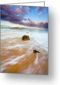 Ebb Greeting Cards - Pulled to the Sea Greeting Card by Mike  Dawson