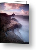Beach Photo Greeting Cards - Pulpit Rock Greeting Card by Nina Papiorek