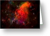 Flares Greeting Cards - Pulsar Greeting Card by Corey Ford