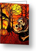 Paula Shaughnessy Greeting Cards - Pumpkin31 Greeting Card by Paula Shaughnessy