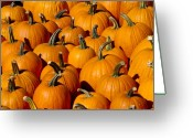 October Greeting Cards - Pumpkins Greeting Card by Anthony Sacco