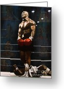 Nes Greeting Cards - Punch Out - Mike Tyson Greeting Card by Ryan Jones