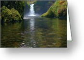 Pouring Greeting Cards - Punchbowl Falls Greeting Card by Todd Kreuter