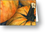 Bewitching Greeting Cards - Punkin Greeting Card by Casey Rasmussen White