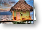 Lodge Greeting Cards - Punta Caracol Greeting Card by Dolly Sanchez