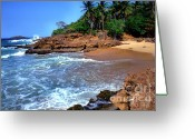 Puerto Rico Greeting Cards - Punta Morillos near Arecibo Greeting Card by Thomas R Fletcher