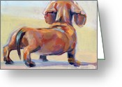 Caramel Greeting Cards - Puppy Butt Greeting Card by Kimberly Santini