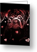 Maria Urso Greeting Cards - Puppy Love Greeting Card by Maria Urso - Artist and Photographer