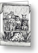 Carol Allen Anfinsen Greeting Cards - Puppy Mill Discovered Greeting Card by Carol Allen Anfinsen