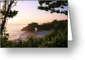 Complex Greeting Cards - Pura Tanah Lot at Dusk Greeting Card by David Gardener