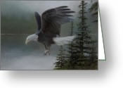 Eagle Pastels Greeting Cards - Purden Lake Greeting Card by David Vincenzi