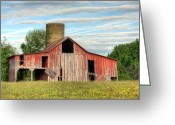 Silo Greeting Cards - Pure Country Greeting Card by JC Findley