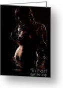 Nude Fine Art;  Figure Art Greeting Cards - Pure Greeting Card by David  Naman