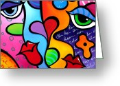 Abstract Fine Art Greeting Cards - Pure Greeting Card by Tom Fedro - Fidostudio