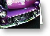 Purple Greeting Cards - Purple 56 Thunderbird Greeting Card by Cathie Tyler