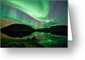 Canon 5d Mk2 Greeting Cards - Purple and Green Greeting Card by Frank Olsen